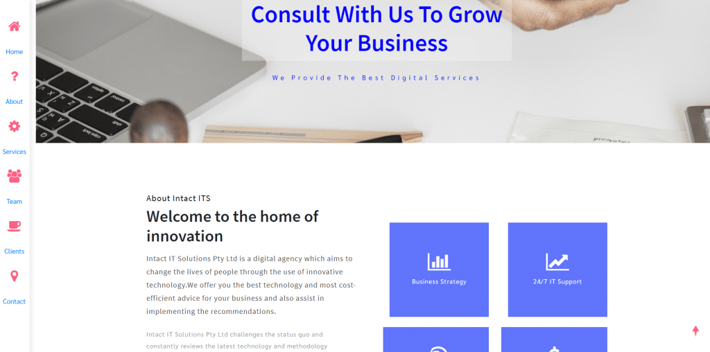 Intact IT Solutions – Website