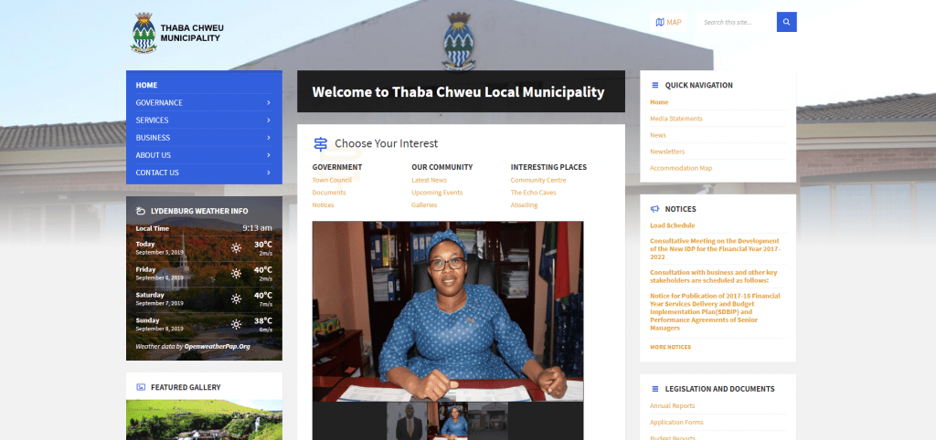 Thaba Chweu Local Municipality – Website